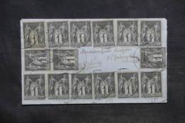 FRANCE - Affranchissement De 15 Valeurs Au Type Sage Sur Enveloppe En 1901 Pour Orléans - L 34226 - Marcophilie (Lettres)