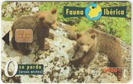 SPAIN B-497 Chip Telefonica - Animal, Bear - Used - Espagne