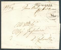 Lettera ASSICURATA De VITERBO Du 16/05/1860 + Griffe Ovale DIREZIONE DI VITERBO  Vers Goscanella- 14329 - Etats Pontificaux