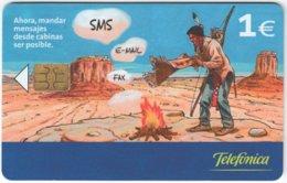 SPAIN B-505 Chip Telefonica - Cartoon - Used - Espagne