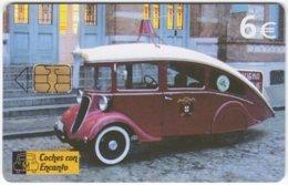SPAIN B-516 Chip Telefonica - Traffic, Vintage Car - Used - Espagne