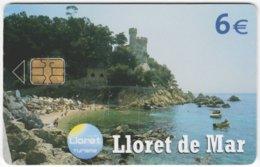 SPAIN B-518 Chip Telefonica - Landscape, Coast, Culture, Castle - Used - Espagne