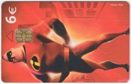 SPAIN B-522 Chip Telefonica - Cinema, Comics, The Incredibles - Used - Espagne
