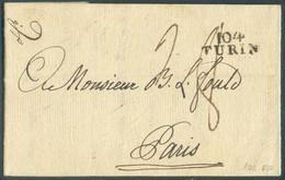LAC De 104/ TURIN Le 16 Sept. 1802 Vers Paris- 14330 - Sardinien
