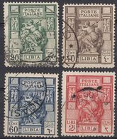 LIBIA (COLONIA ITALIANA) - Serie Completa Di 4 Valori Usati: Yvert 40/43, Come Da Immagine. - Libya