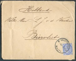 2½p. Obl. Sc VALETTA MALTA Sur Lettre Du 6 Février 1899 Vers Biervliet (Pays-Bas) - Ship CHANTIER CACHIA FRANK & Brother - Malte