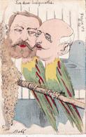 CPA Peinte à La Main Caricature Satirique Politique JAURES / ROUVIER  Le Frelon N° 8 Illustrateur BOBB  (2 Scans) - Personnages