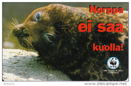 FINLAND(chip) - WWF/Seal, HPY Telecard, CN : 000166, Tirage 10000, 10/98, Used - Finland