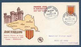 France FDC - Premier Jour - Blason Du Roussillon - Perpignan - 1955 - FDC
