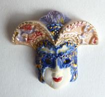 FEVE ALCARA EN Porcelaine Bleue MASQUE DE CARNAVAL VENITIEN (7) - Frühe Figuren