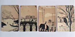 Lot X 4 CPA  Série Aquatinte Asie( Thailande?) - Postcards