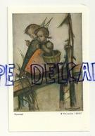 Petite Fille Et Ange Qui Traversent Un Pont.  Signée Hümmel. Printed By ARS Sacra 10887 - Non Classés