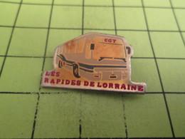 613a Pin's Pins / Beau Et Rare : THEME TRANSPORTS / AUTOBUS AUTOCAR BUS CAR LES RAPIDES DE LORRAINE - Transportation