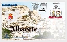 H01 Spain 2019 12 Months, 12 Stamp - Albacete FDC - 1931-Heute: 2. Rep. - ... Juan Carlos I