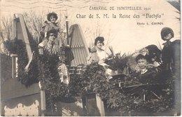 FR34 MONTPELLIER - Carnaval Carte Photo - Reine Des Dactylo - 1921  - Animée - Belle - Carnaval