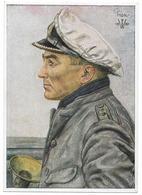 Kriegsmarine   - Kapitänleutnant Günther Prien   - Dessin De Willrich   - WWII - Personen