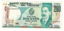 Uruguay 200 Pesos 1986 UNC - Uruguay