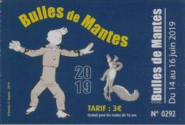Bandes Dessinées, Bulles De Mantes (78) 2019 Illustration Schwartz, Spirou - Sin Clasificación
