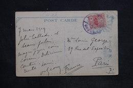 CORÉE - Oblitération De Séoul Sur Carte Postale En 1919 Pour Paris - L 34238 - Corée Du Sud