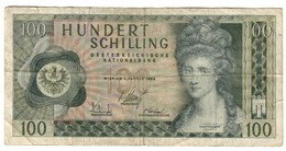 Austria 100 Shillings 02/01/1969 - Austria