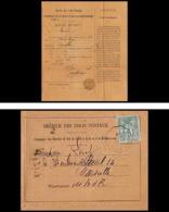 3952/ Chemin De Fer Service Des Colis Postaux Bouches Du Rhone N°75 Marseille 1898 Convoyeur - Poststempel (Briefe)