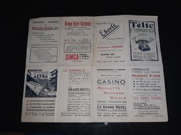 67 ALSACE DEPLIANT STRASBOURG PUBLICITE COMMERCES HOTEL GARAGE  FOIE GRAS RESTAURANT TELEPHONE AUTOCAR CASINO PLAN CARTE - Toeristische Brochures