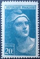 R1591/60 - 1945 - TYPE MARIANNE DE GANDON - N°730a NEUF** ➤➤➤➤ FAUX D'ITALIE (RARE) - Cote : 200,00 € - Curiosities: 1945-49 Mint/hinged