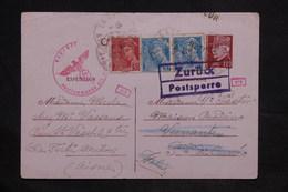 FRANCE - Entier Postal  + Compléments De La Ferté Milon Pour L 'Italie En 1943 Et Retour, Contrôle Postal - L 34242 - Entiers Postaux