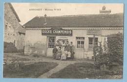 DA020  CPA   ANROSEY (Haute-Marne)  Maison Delphin WYET - Café Des Amis - Produits Des DOCKS CHAMPENOIS  +++ - Autres Communes