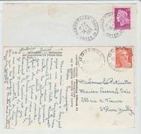 Côte Du Nord : GOUAREC CàD Type Horoplan & HENENBIHEN TYpe A8 / 2LSC De 1951 & 69 - Storia Postale