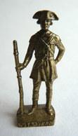 FIGURINE KINDER  METAL SOLDAT AMERICAIN USA 1776 OFFICIER 8 80's Laiton - KRIEGER USA (2) - Figurines En Métal