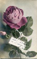 FLOR DE ROSA, ROSE FLOWER. POSTAL POSTALE CPA VIAJADA CIRCA 1920's - LILHU - Flores