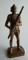 FIGURINE KINDER  METAL SOLDAT AMERICAIN USA 1778 SOLDAT 4 80's Cuivre - KRIEGER USA SCAME - Figurines En Métal