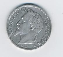 5 Francs NAPOLÉON III, TÊTE LAURÉE 1868 - France