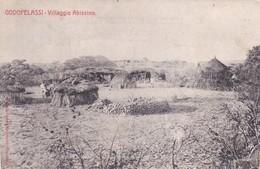 CARTOLINA - (COLONIA ERITREA) GODOFELASSI - VILLAGGIO ABISSINO - VIAGGIATA PER MILANO - Eritrea