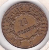 Jeton Bordel à L'éffigie Du 20 Francs Or Génie. Laiton Fourré - Maisons Closes