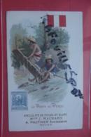 Cp Pub Specialite De Toiles Et Blanc Machard Dijon La Poste Au Perou - Advertising