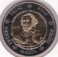 Malte. 2 Euro 2003. Specimen. Essai Probe - Privéproeven