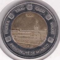 Monaco 2 Euro 2005. Specimen. Essai Probe - EURO