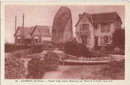 D56 - QUIBERON - MENHIR ERIGE COMME MONUMENT AUX MORTS DE LA GUERRE 1914-1918 - Quiberon