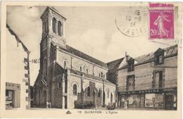 D56 - QUIBERON - L'EGLISE -Mercerie/Bonneterie/Confection/Chemiserie A St Antoine-Véhicules Anciens - Quiberon