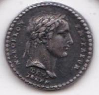 Petite Medaille Argent Napoléon Empereur. Le Senat Et Le Peuple An XIII - Royal / Of Nobility