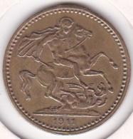Jeton Token Edward VII Coronation 1911. Saint Georges Terrassant Le Dragon. - Royaux/De Noblesse