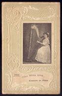 1909 MISS HILDA KING - Concerto No Porto. Cartão Antigo, Com Imagem De HARPISTA. Old Card MUSICIAN Lady HARPIST Portugal - Porto