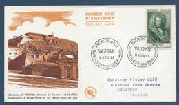 France FDC - Premier Jour - Sébastien Le Prestre - Marquis De Vauban - 1955 - FDC