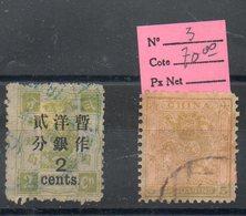DEUX ANCIENS TIMBRES DE CHINE PRIX DEPART 1 EURO - Chine
