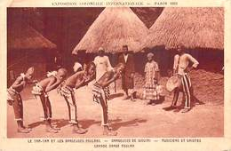 Afrique > (Sénégal) Exposition Coloniale Internationale Paris 1931- TAM TAM Et Danseuses Foulans Danseuses De Siguiri - Senegal