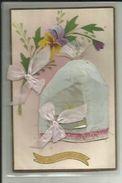 Belle Carte De La Saint Nicolas ( Bonnet Et Noeud En  Tissus ) - Saint-Nicholas Day