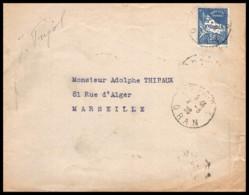 5584 Lettre Cover Bouches Du Rhone Algérie Oran Pour Marseille 1928 - Cartas