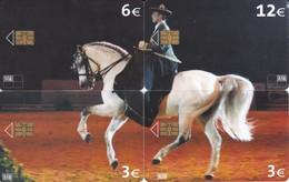 PUZZLE DE 4 TARJETAS DE ESPAÑA DE UN CABALLO (HORSE) - Horses